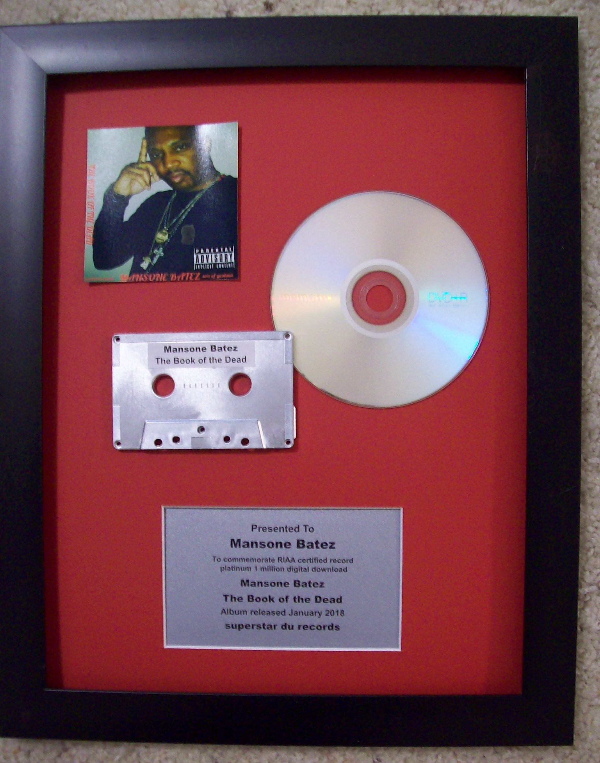 Image for CD Cassette Display with Custom Plaque