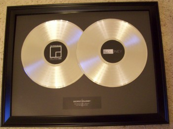 Image for Double LP Gold Trophy Award Customized