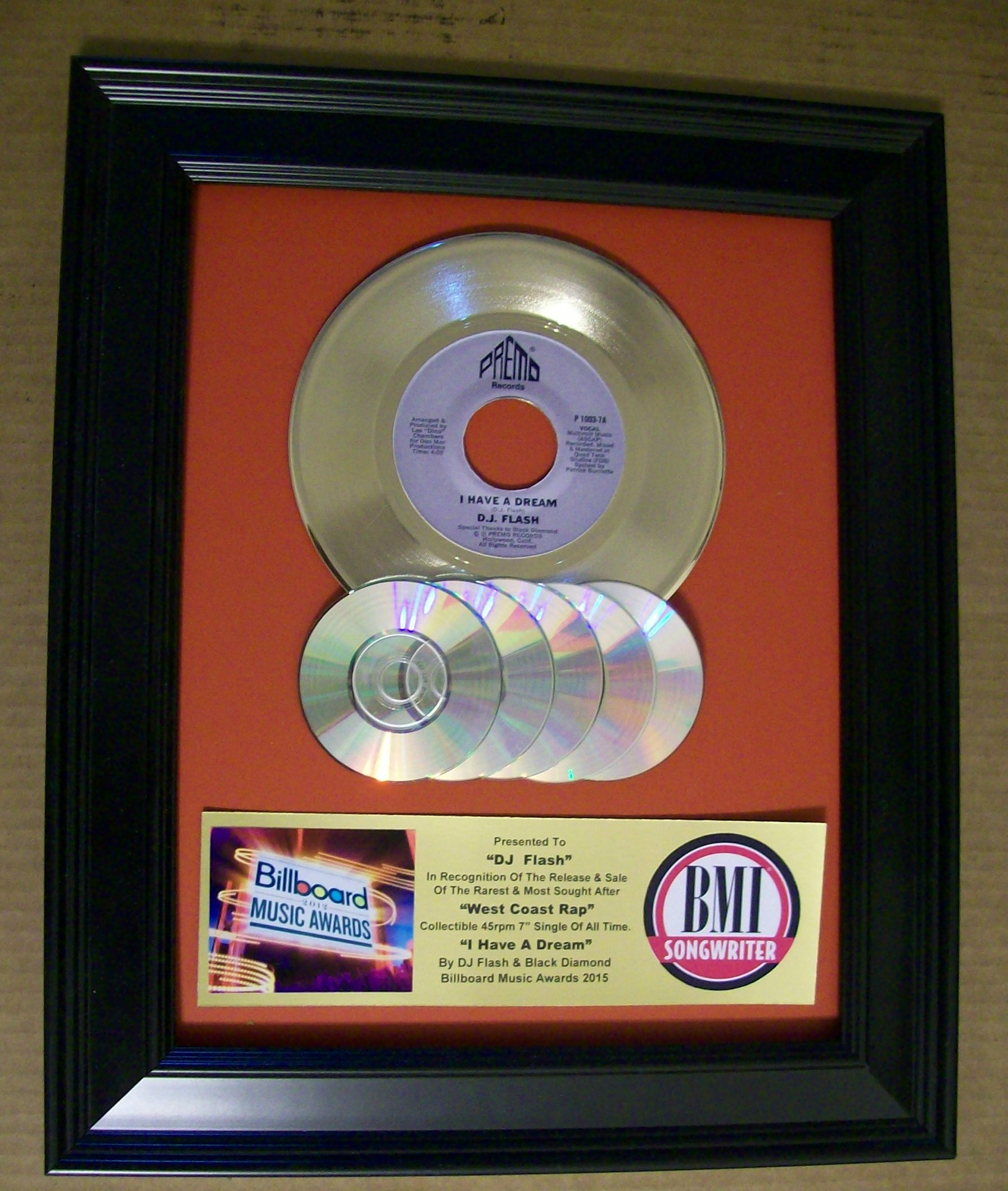 Image for Gold 45rpm Custom Award w/CD's