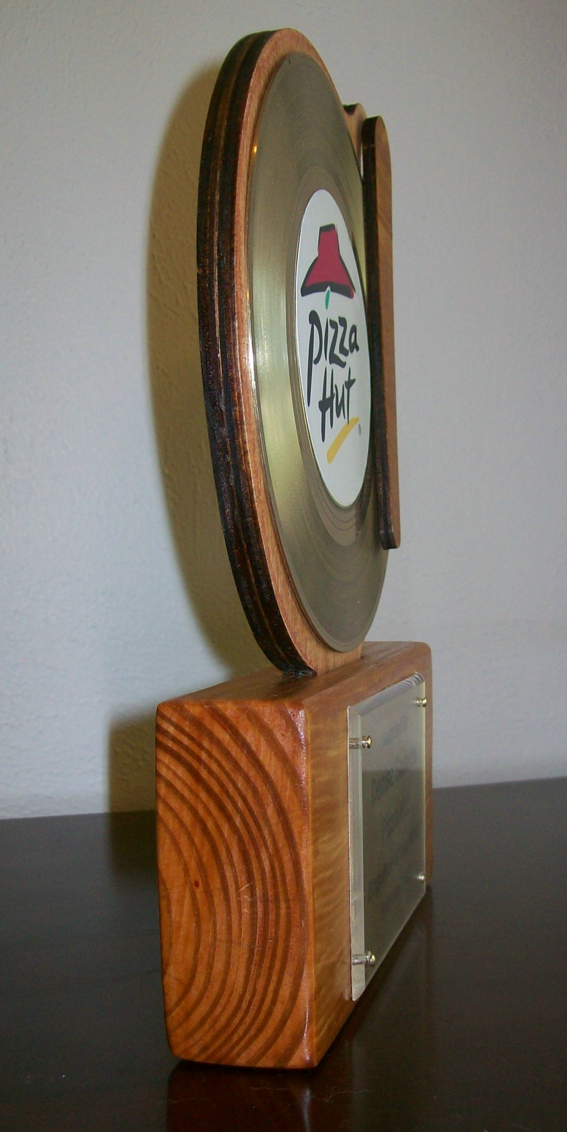 Image for Platinum Mantel/Desktop 45rpm Record Award/Trophy