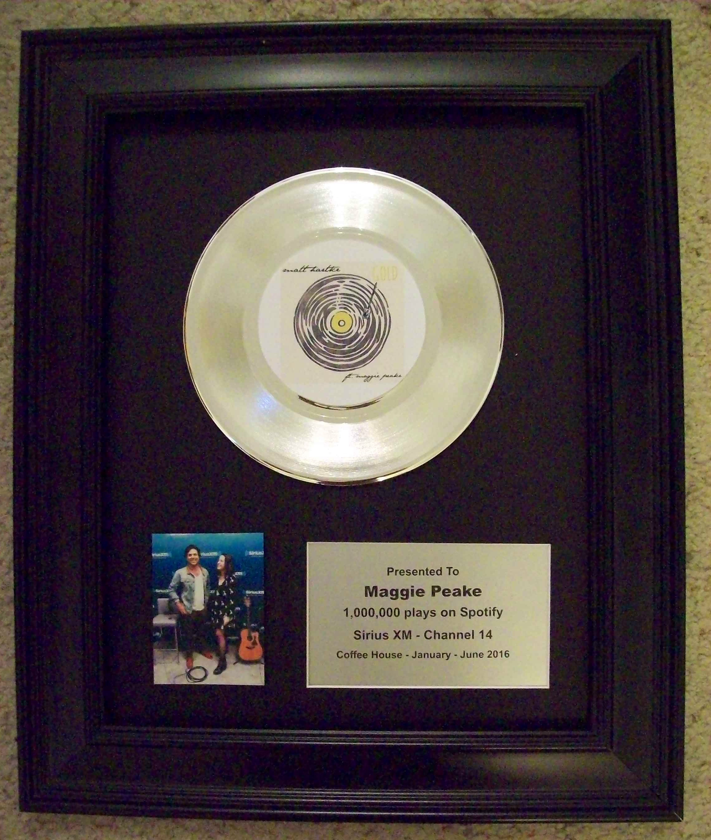 Image for Platinum/Silver 45 rpm Trophy/Award