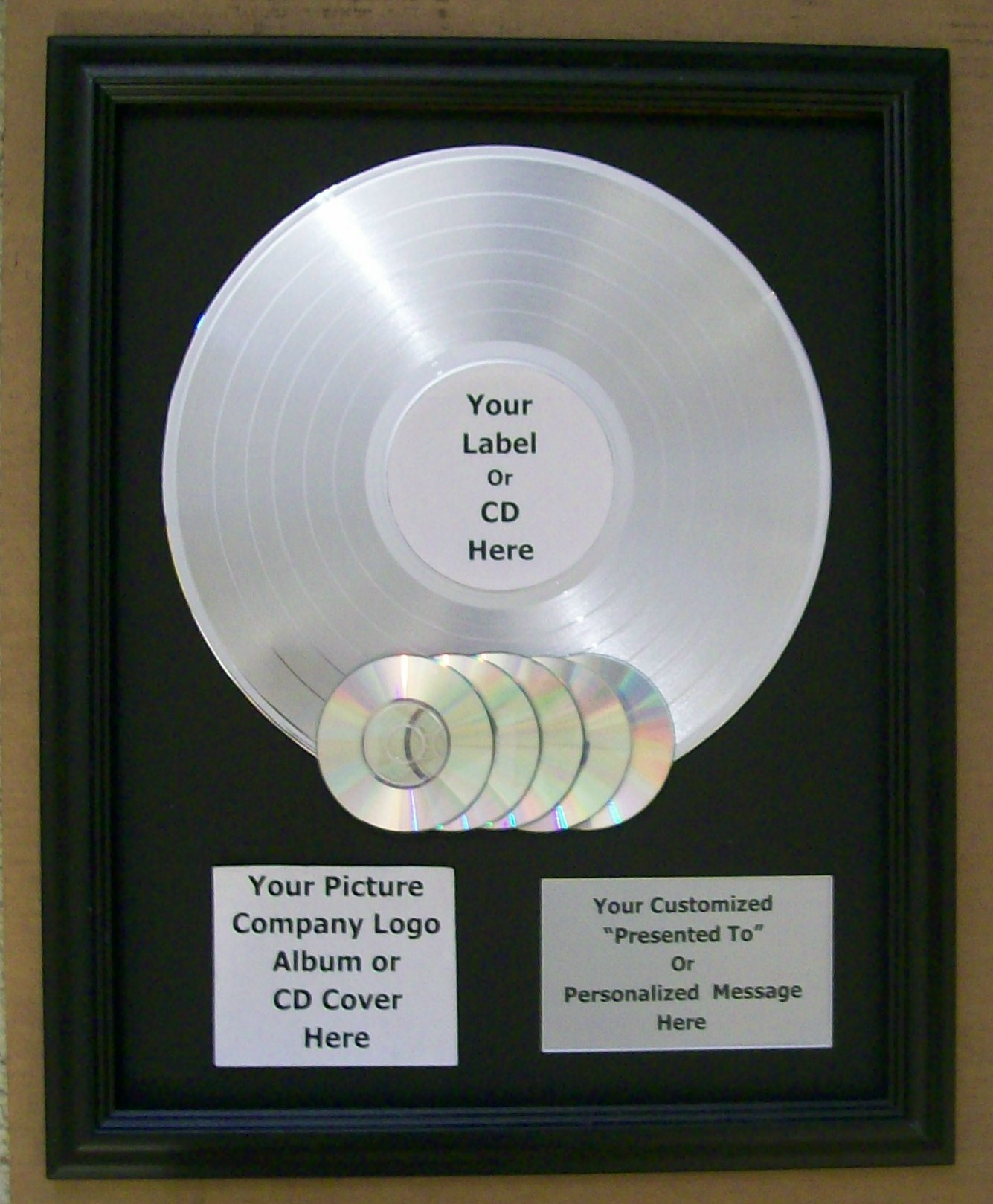 Image for Platinum with LP Record with CD's Custom Award Trophy